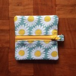 Daisy Coin Purse - Teal