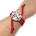 Kimono Strand Necklace -  Red Florals