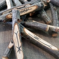 Celtic Ogham Tree Staves, set of 25 including mini guide and bag