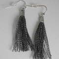 Tahlia - Re Created grey tassel ear drop