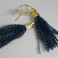 Deirdre - Re Created blue tassel ear drop