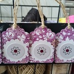 5 x Purple Floral Gift Tags