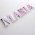 Name Plaque for Wall or Door. 6cm. 5 letters.