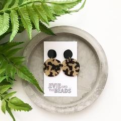 Leopard Statement Acrylic Earrings