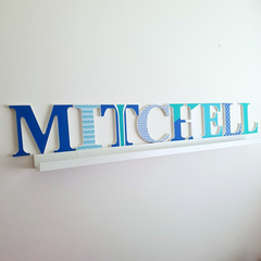 Wall or Door Name Plaque.  17cm. 8 letters