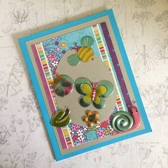 Blue Easter Card for a Child