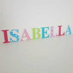 Name Plaque for Wall or Door. 6cm. 8 Letters.