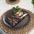 Table Décor | Set of 4 Cutlery Holders | Black with Gold & Blue Waves
