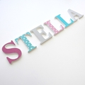 Name Plaque for Wall or Door. 6cm. 6 Letters.
