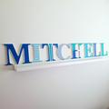 Wall or Door Name Plaque.  17cm. 8 letters