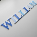 Name Plaque for Wall or Door. 6cm. 7 Letters.