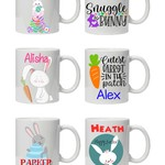 Personalised Easter Mug, Great for kids, Name & picture