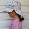 Adjustable Unisex SunHat Legionnaire style - Easter Bunnies in parade