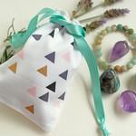 Small cotton drawstring bag - Pendulum Pouch Jewellery Bag
