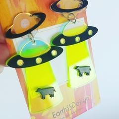 UFOs - Acrylic Dangle Earrings