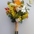 Colourful Australian Native Flower Bouquet for Aussie Bride