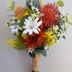 Colourful Australian Native Flower Bouquet for Easter Bride, Aussie Bride
