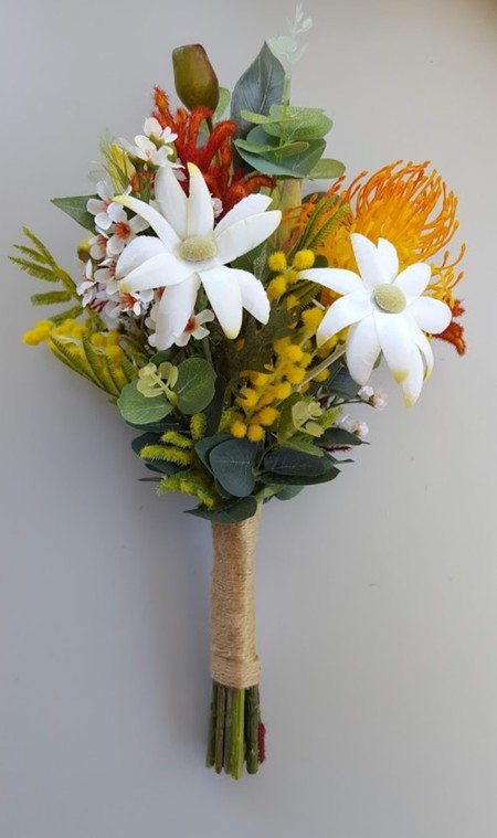 Colourful Australian Native Flower Bouquet for Bridesmaid, Easter Wedding