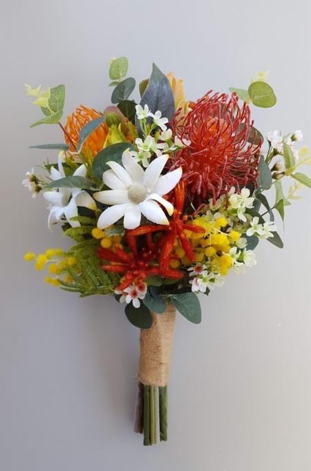 Colourful Australian Native Flower Bouquet for Easter Bride, Aussie Bride