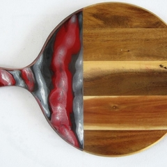 Round Timber Cheeseboard with Resin Art