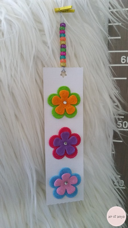 Floral Gift Tag Bookmark - Brights