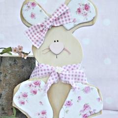 Flossy the wooden rabbit.. shelfie friend