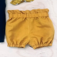 Size 1 - Bubble Shorties - Mustard - Bloomers - Retro -