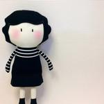 My Teeny-Tiny Doll®️ Coco Chanel - Handmade Fabric, Rag Doll