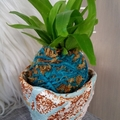 Easter Kokedama in Pot - Fern (Pot 4)