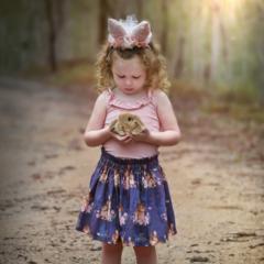 Easter Rabbit Skirt Girls Toddler