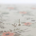 Tiny Circle Studs, Sterling Silver