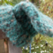 knitted baby beanie made from mohair/acrylic yarn.  ON SALE!!!