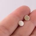 Sterling Silver Disk Earrings, Minimalist Studs