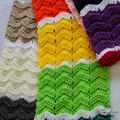 Colour Block Ridge Ripple  Scarf - Pattern