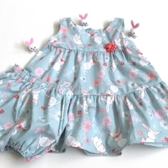Size 18 Months - 'Floral Bunnies' Dress
