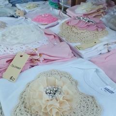 Baby Girls Cream Sweetheart Onesie Size 0000 & 000