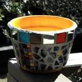 Mosaic Flower Pots - Planter pots - Yellow