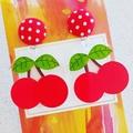 Cherries - Acrylic Dangle Earrings