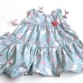 Size 18 Months - Floral Bunnies Easter Dress