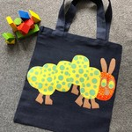 Toy/Library Yellow Caterpillar Bag for Children