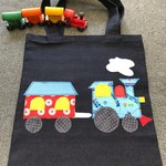Toy/Library Blue Train Bag for Children