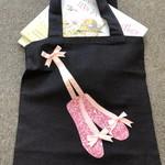 Library/Ballet Shoe Pink Bag for Children x4
