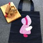 Toy/Library Pink Bird Motif Bag for Children