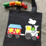 Toy/Library White Train Bag for Children