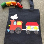 Toy/Library Red Train Bag for Children