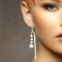 Very glam. AB crystal drop earrings.