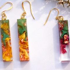 Resin Earrings, Rose Petal Earrings, Flower Earrings, Blackwood Lily