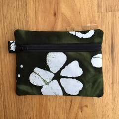 Dark Green Batik Coin Purse