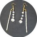 Very glam. AB crystal drop earrings.