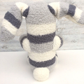 'Bernie' the Sock Bunny - grey & cream - *READY TO POST*